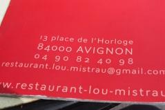The cafe in Avignon