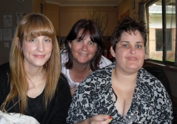 My gorgeous girls Sarah and Jennifer and me - Bree