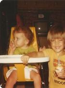 Jennifers 1st Birthday with her sister Sarah