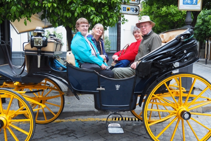 Horse and carriage ride in Seville Spain