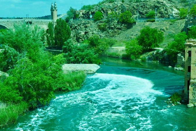 The river Tagus in Toledo Spain