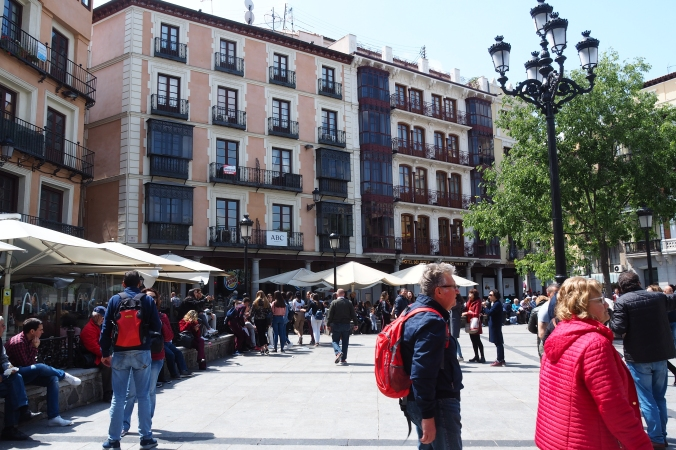 Part of the square in Toledo Spain
